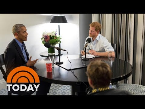 Prince Harry's Interview With Former President Obama Released Amid Meghan Markle Mania | TODAY