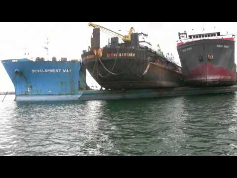 Log  barges and tugs to China . Marine Accident waiting to Happen mp4