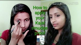 How to apply kajal smudge proof & long lasting/ Beauty Style Tips