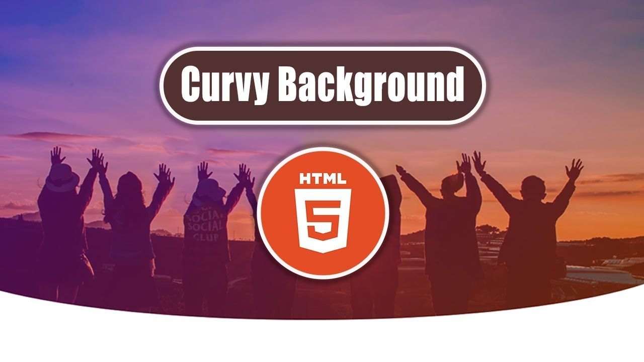CSS Curvy Background Using HTML 5 & CSS 3 - Html Css Curve