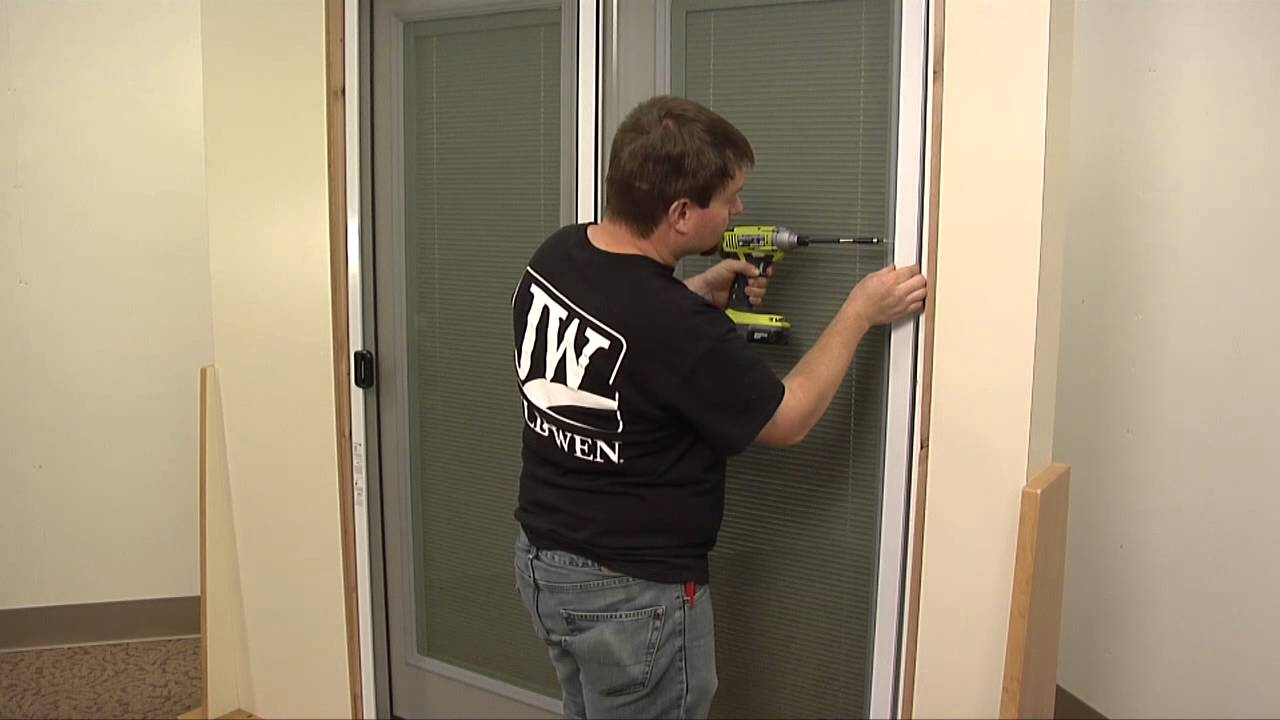 how to install a sliding screen door youtube. Black Bedroom Furniture Sets. Home Design Ideas