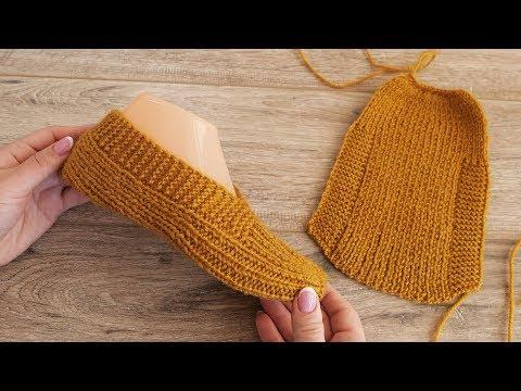 Вязание спицами одним полотном