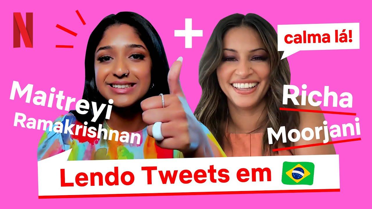 Elenco de Eu Nunca lê tweets em português | Netflix Brasil