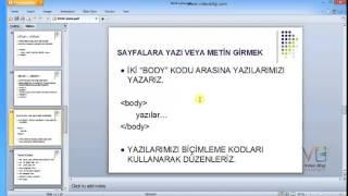 Ders 4: Adobe Dreamweaver Kodlamaya Giriş 1.Bölüm: Html Temel Kodları