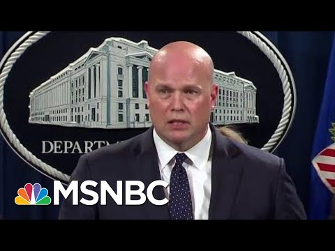 Matthew Whitaker Wilts Addressing Special Counsel Question To Press | Rachel Maddow | MSNBC