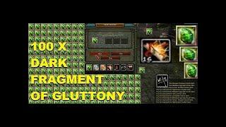 100x Dark Fragment Of Gluttony !
