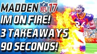 IM ON FIRE! 3 INTERCEPTIONS IN 90 SECODNS! - Madden 17 Ultimate Team