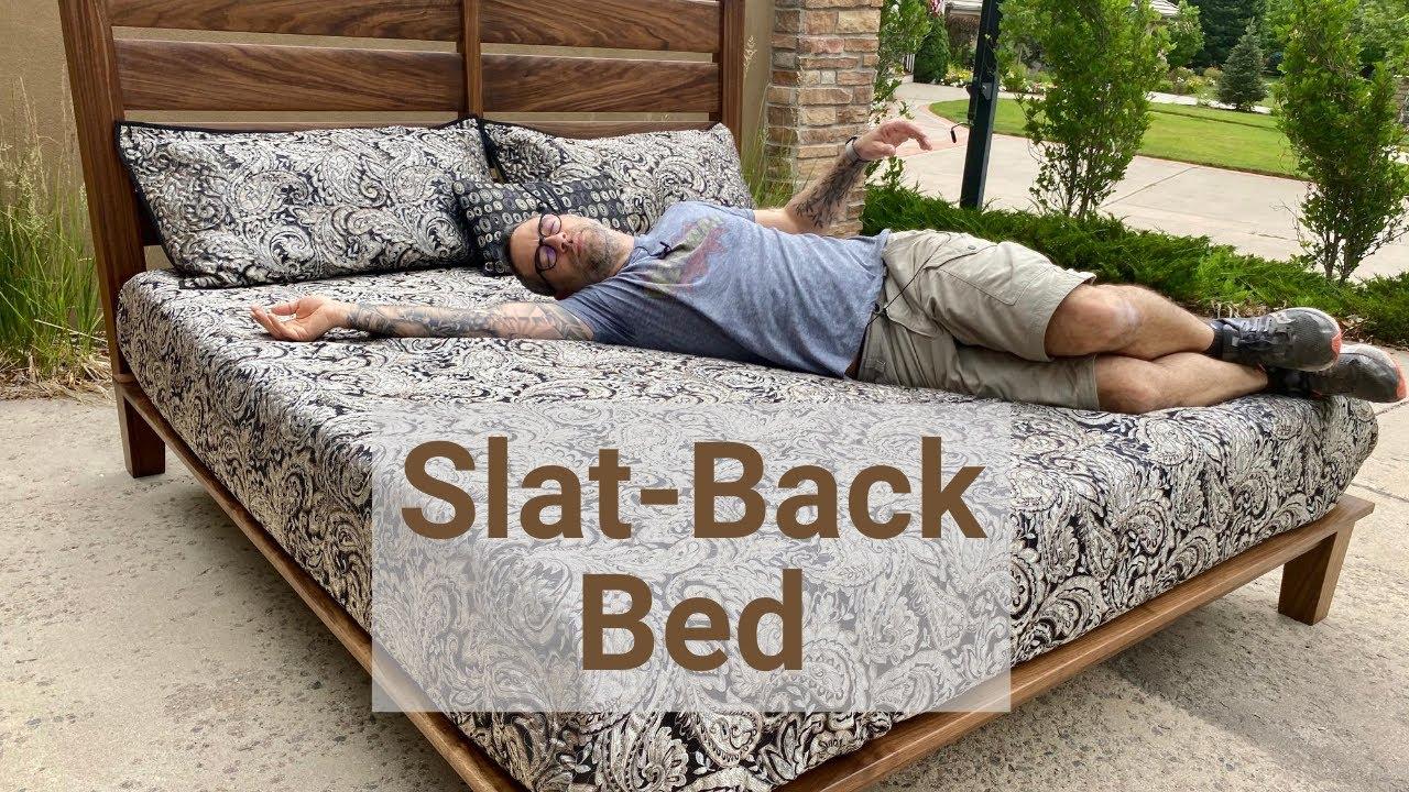 Slat Back Platform Bed - Mid-Century Modern Influence