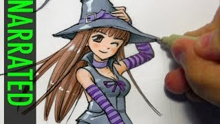 How to Draw a Witch: Manga Style [Narrated Step-by-Step]