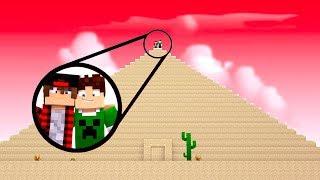 O QUE TEM DENTRO DESSA PIRÂMIDE GIGANTE  ?! - Minecraft Mundo (NOVA SÉRIE)