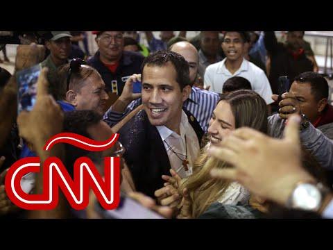 Juan Guaidó regresó a Venezuela, mira su agitada llegada