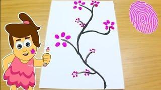 לצייר עץ פורח