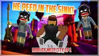 HE PEED IN THE SINK!   Meep City Roblox   Isabelle, Olivia, & Ryan