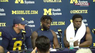 getlinkyoutube.com-Michigan Football: 20-10 Win Over Indiana Players Post-Game Press Conference