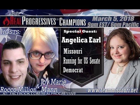 Joy Marie Mann & Rocco Million; joint interview with candidate for MO US Senate, Angelica Earl