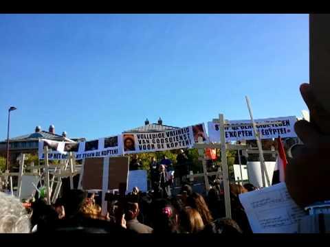 Demonstratie kopten amsterdam tegen discriminatie in for Demonstratie amsterdam