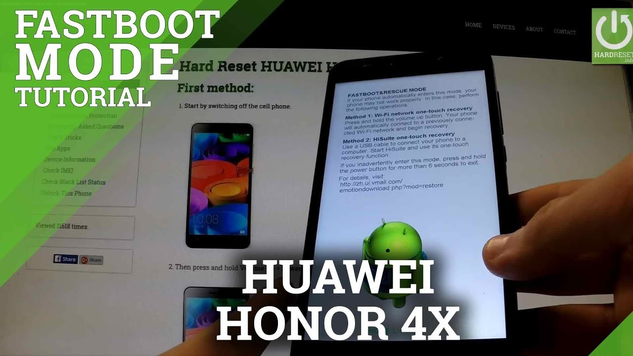 Fastboot Mode HUAWEI Honor 4X - How to Open and Exit Fastboot