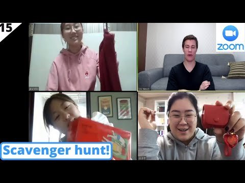 Online Warm Up Game| Scavenger Hunt | Teach English Online Demo | Learn English Zoom| Show And Tell