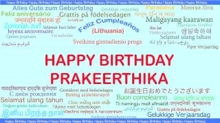Prakeerthika   Languages Idiomas - Happy Birthday