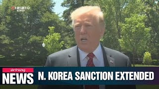 Trump extends North Korea sanctions for one more year