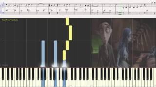 The Corpse Bride (Труп невесты) - Danny Elfman (Ноты и Видеоурок для фортепиано) (piano cover)
