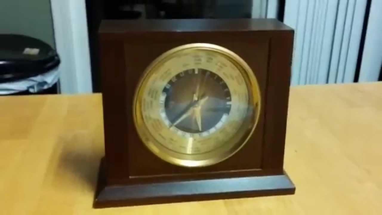 Bulova World Clock Mantle Executive Desk B7233