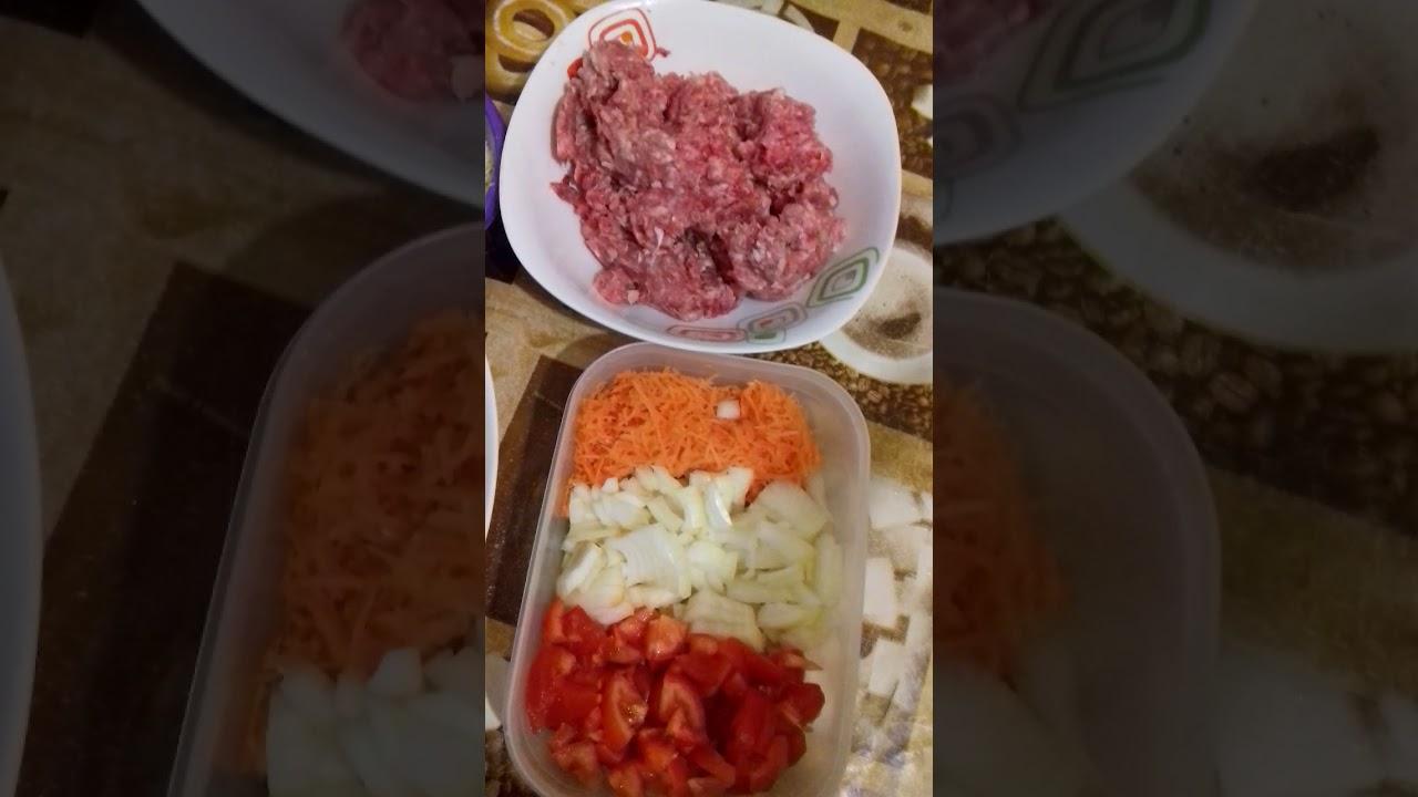 Запеканка со свино-говяжим фаршем.Очень вкусное нежное блюдо.