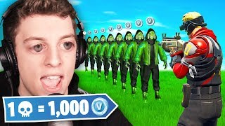 1 Elimination = 1000 *FREE* VBucks (Fortnite Challenge)