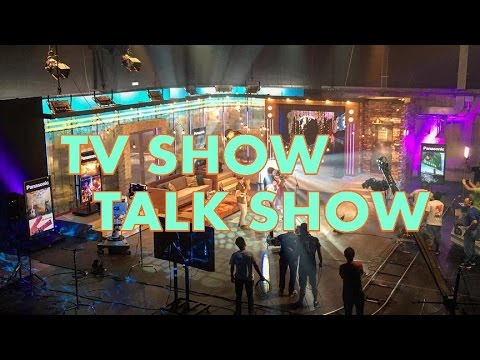 Broadcast studio Lighting design for tv show, talk show set