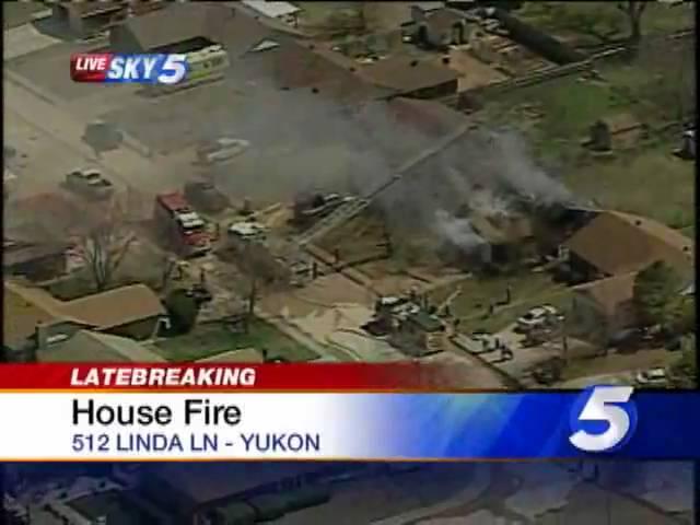 Crews Battle House Fire In Yukon #1