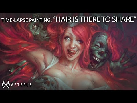 Speed painting: ''Hair is there to share''