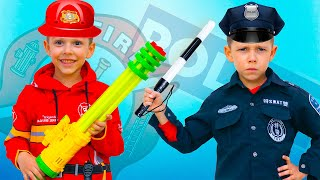 Artem Pretend Play Professions | Funny Videos for kids