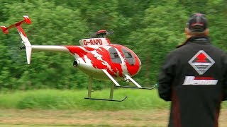 RC SCALE MODEL TURBINE HELICOPTER HUGHES 500 FLIGHT DEMONSTRATION