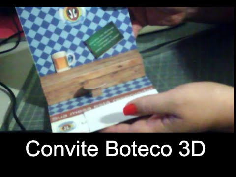 Diy Convite Boteco 3d Youtube