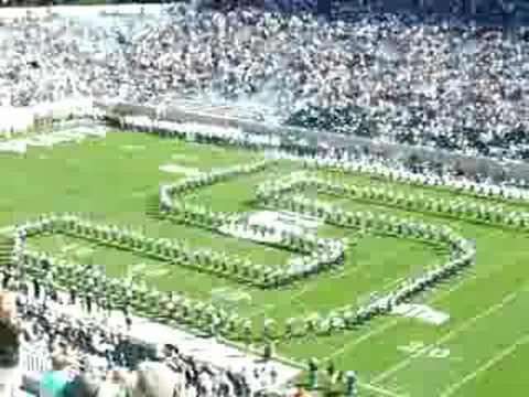 Michigan State Spartan Marching Band - Entrance