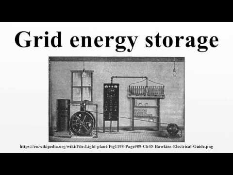 Grid energy storage