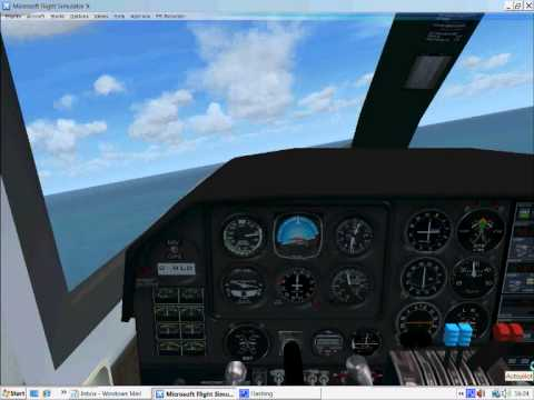 Loganair bn2 At Fair Isle - YouTube