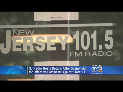 Suspended New Jersey Radio Hosts Back On-Air After Offensive Comments