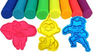 Play-Doh Incredibles2 Molds & Surprise Toys Mr. Incredible Elastigirl Violet Dash Jack-Jack Parr
