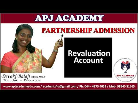 Partnership Admission - Revaluation Account