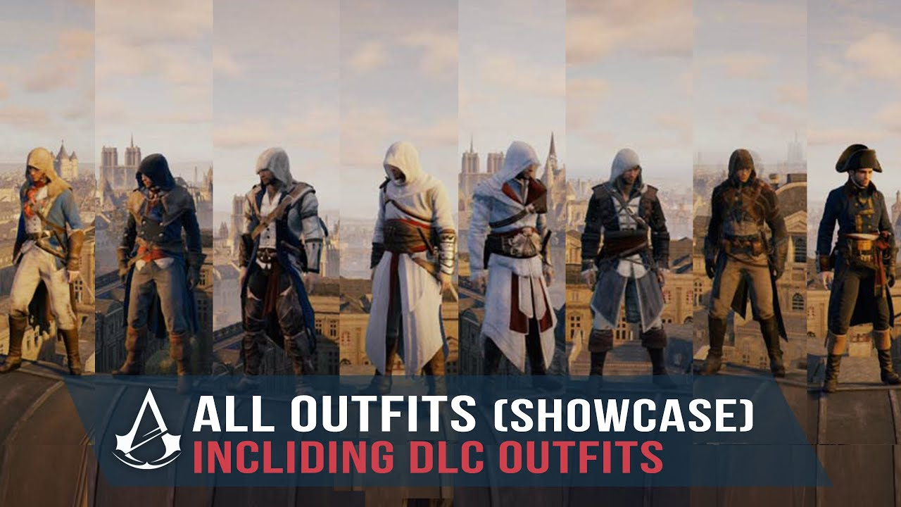 Assassin S Creed Unity All Outfits Including Dlcs Showcase