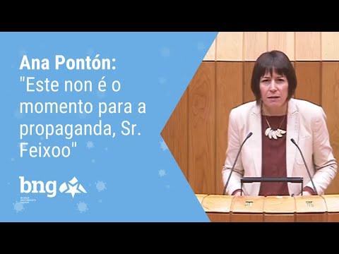 """Ana Pontón: """"Este non é o momento para a propaganda, Sr. Feixoo"""""""