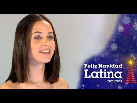 Sigrid Bazán saluda por Navidad a los seguidores de Latina Noticias
