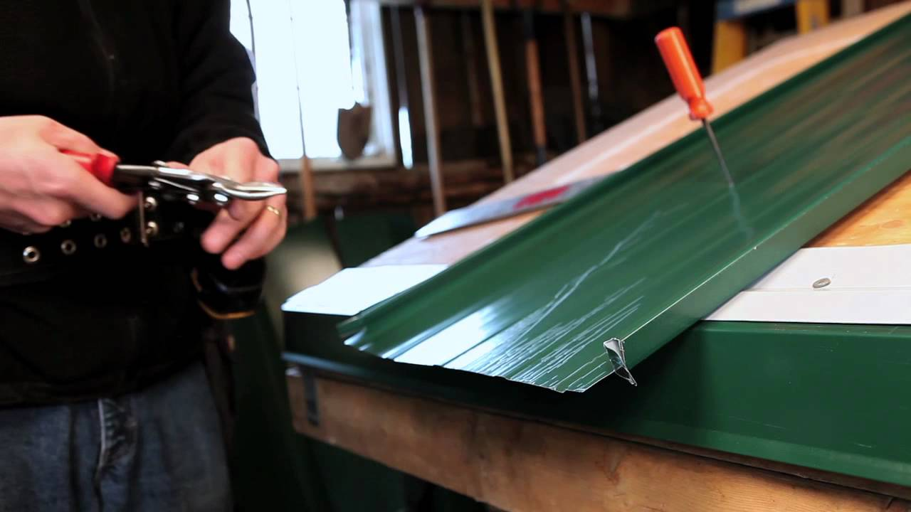 Standing Seam Panel Bread Pan Fold At Top Youtube