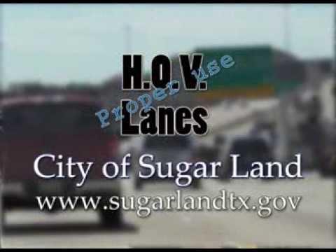 H.O.V. proper lane use in Sugar Land