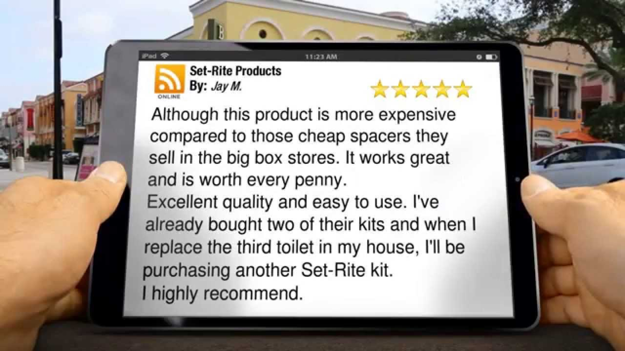 5-Star Review by Jay M  for Set-Rite