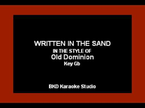 Old Dominion - Written In The Sand (Karaoke Version)
