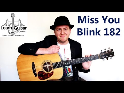 I Miss You - Guitar Tutorial - Blink 182 - How To Play Unison Chords ...