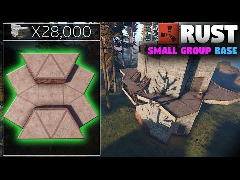 WORKING Cheap Small Group Base Design | (How-To) Rust Base Building