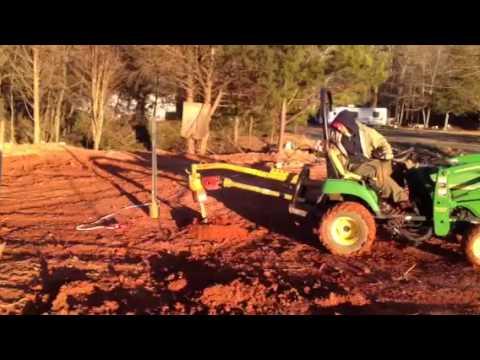Athens Aqua Farm #11 drilling and Setting poles.